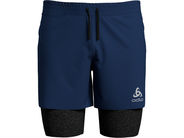 Odlo Millennium Linencool PRO Pantaloncini 2in1 Uomo, estate blue/black